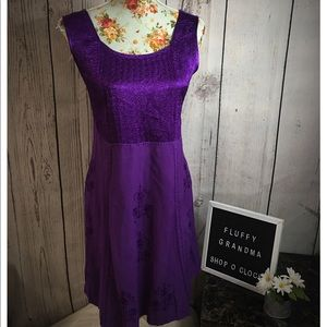 Holy Clothing Royal Purple 100% Rayon Dress 1X